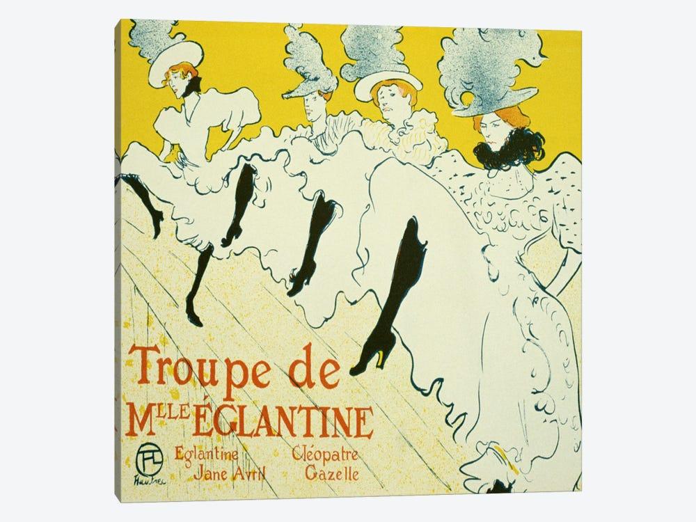 La Troupe De Mlle. Eglantine by Henri de Toulouse-Lautrec 1-piece Canvas Art Print