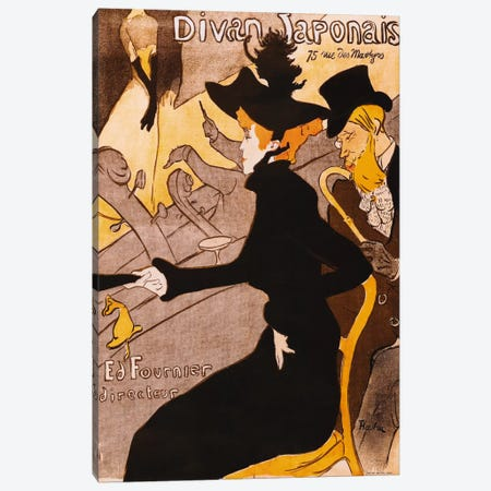 Le Divan Japonais Canvas Print #1458} by Henri de Toulouse-Lautrec Canvas Art Print