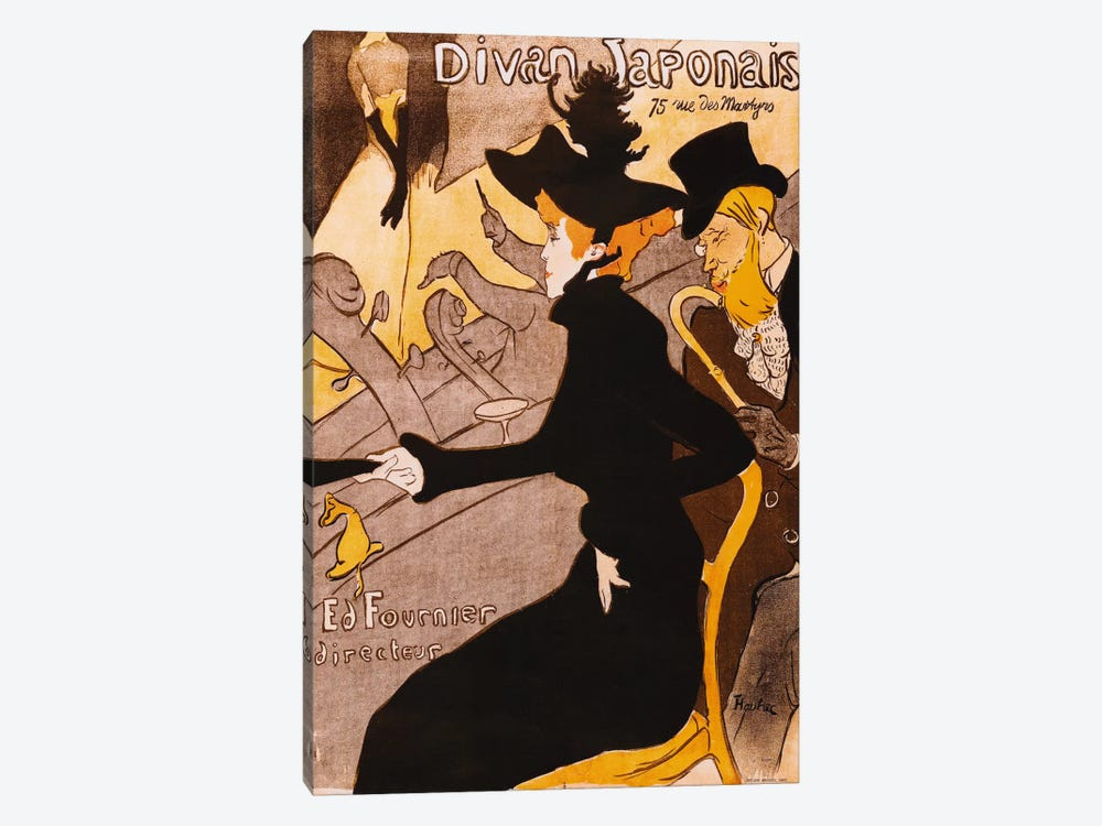 Le Divan Japonais by Henri de Toulouse-Lautrec 1-piece Canvas Artwork