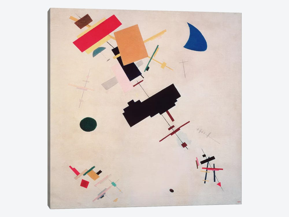 Suprematist Composition No.56, 1916 by Kazimir Malevich 1-piece Canvas Wall Art