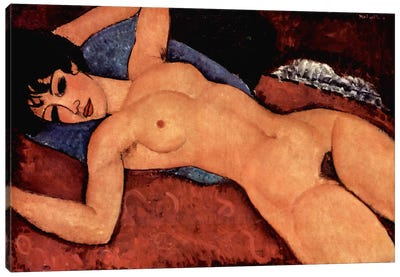 Nudo Sdraiato Canvas Art Print