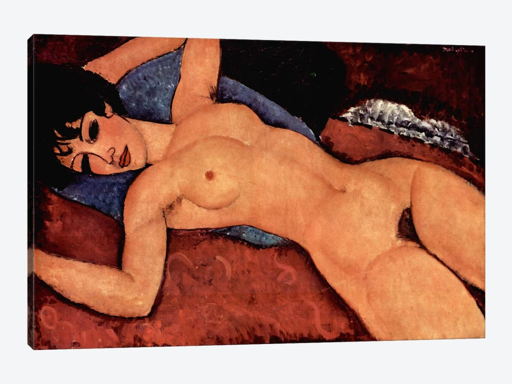 Nudo Sdraiato by Amedeo Modigliani 1-piece Canvas Art Print