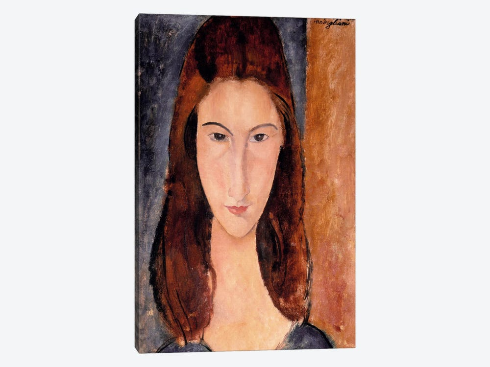 Portrait of Jeanne Hebuterne by Amedeo Modigliani 1-piece Canvas Artwork