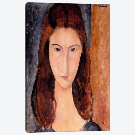 Portrait of Jeanne Hebuterne Canvas Print #1465} by Amedeo Modigliani Canvas Art Print