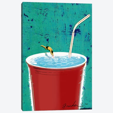 Big Drink Canvas Print #14675} by Anthony Freda Canvas Art Print