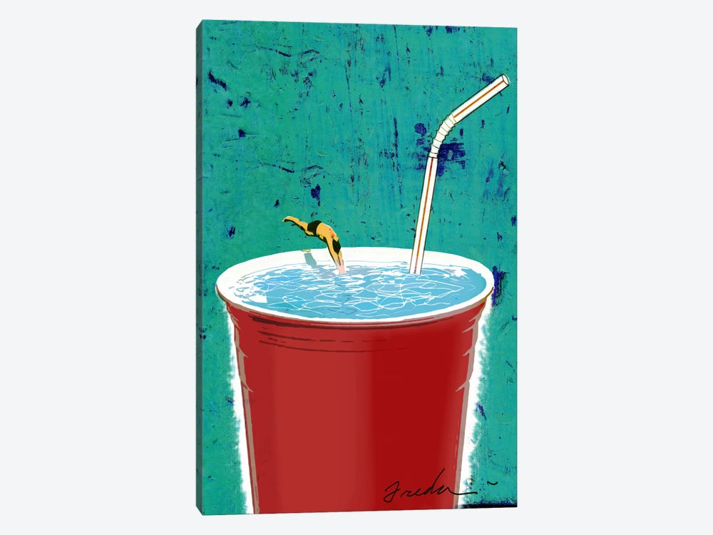 Big Drink 1-piece Canvas Wall Art