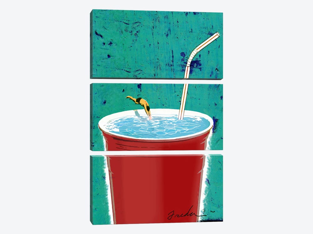 Big Drink by Anthony Freda 3-piece Canvas Artwork