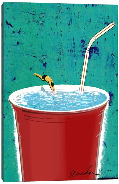 Big Drink Canvas Art Print