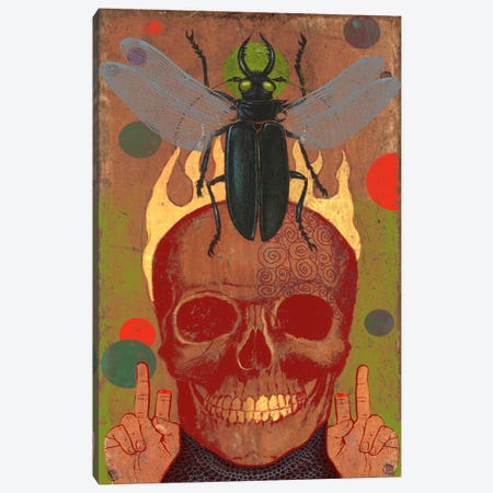 Skull Canvas Print #14683} by Anthony Freda Canvas Print