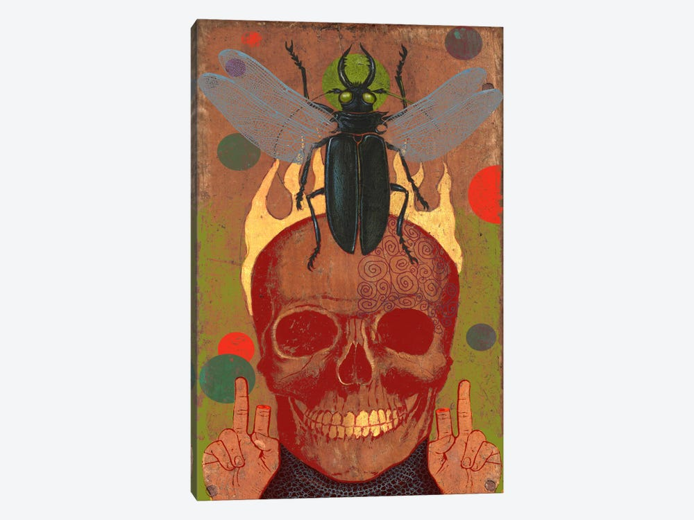 Skull by Anthony Freda 1-piece Canvas Print