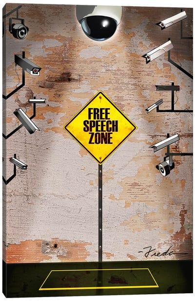 Speech Zone Canvas Art Print