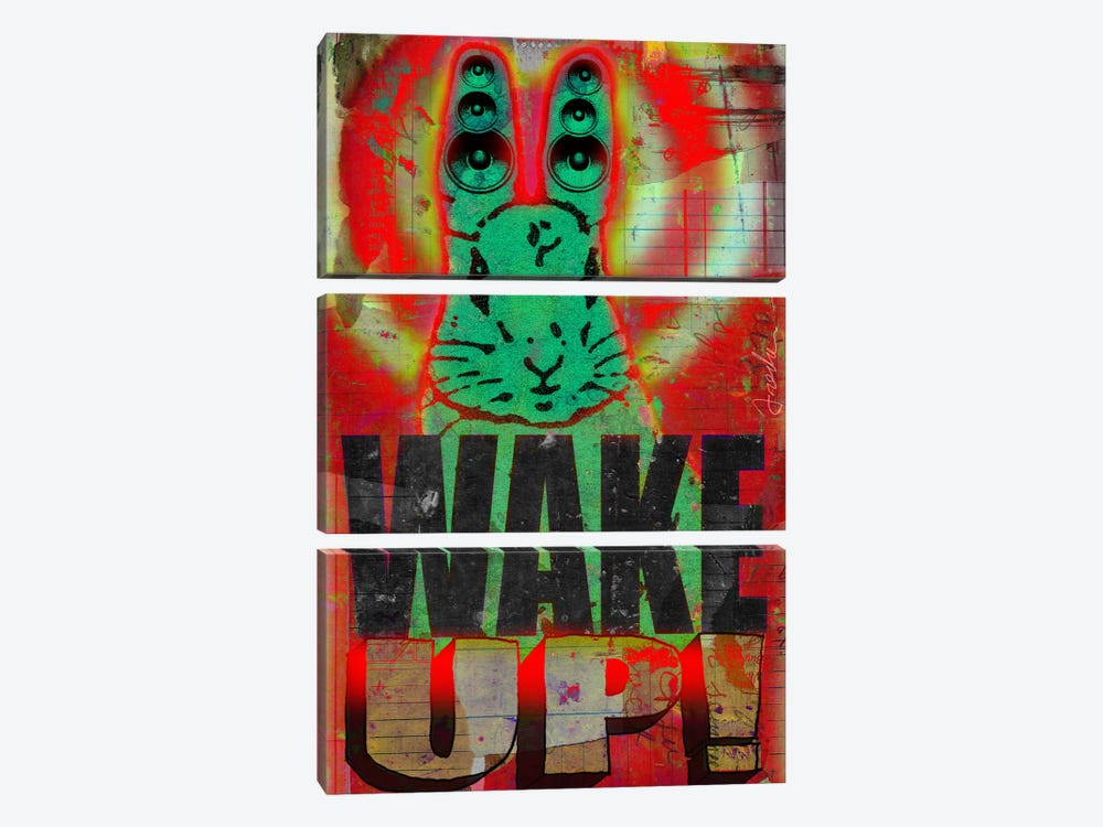 Wake Up 3-piece Canvas Wall Art