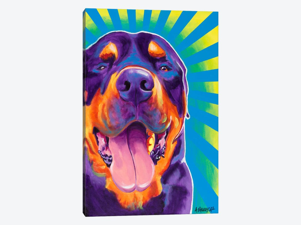 Duncan by DawgArt 1-piece Canvas Art