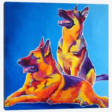 Erin & Eiko Canvas Print #14699} by DawgArt Canvas Wall Art
