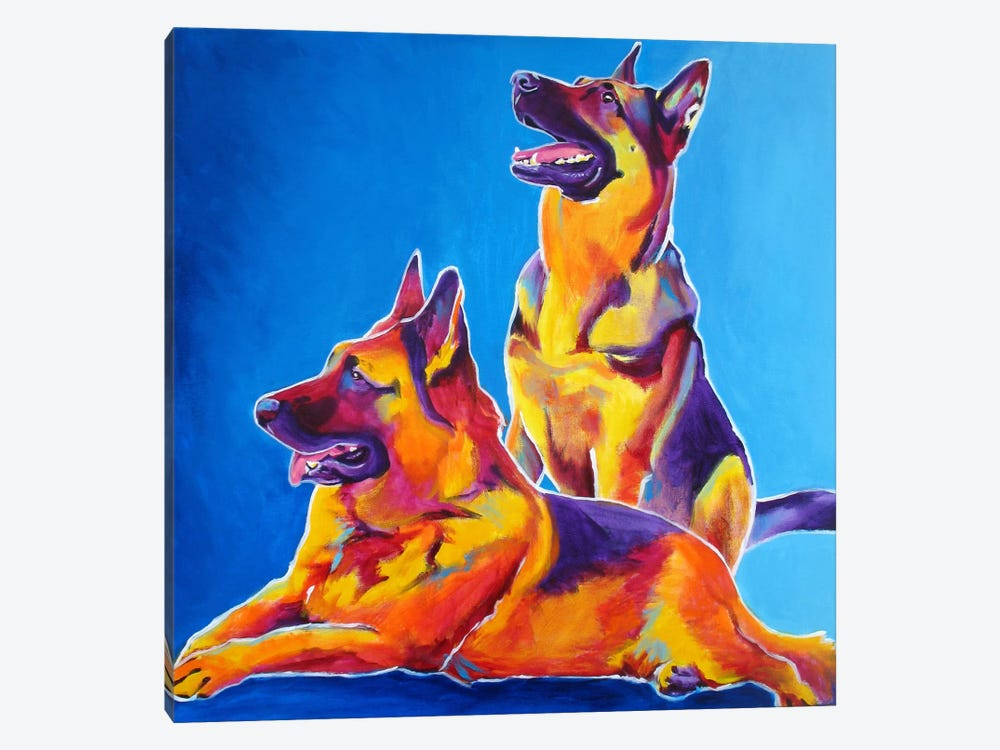 Erin & Eiko by DawgArt 1-piece Canvas Art