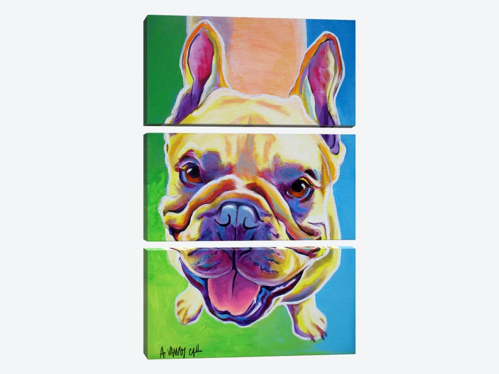 Ernest by DawgArt 3-piece Canvas Art Print