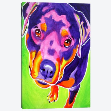 Paige Canvas Print #14710} by DawgArt Canvas Art Print