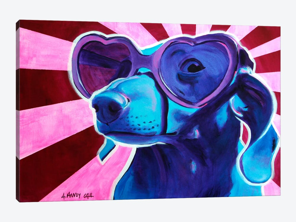 Puppy Love 1-piece Canvas Print