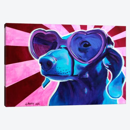 Puppy Love Canvas Print #14711} by DawgArt Canvas Art Print