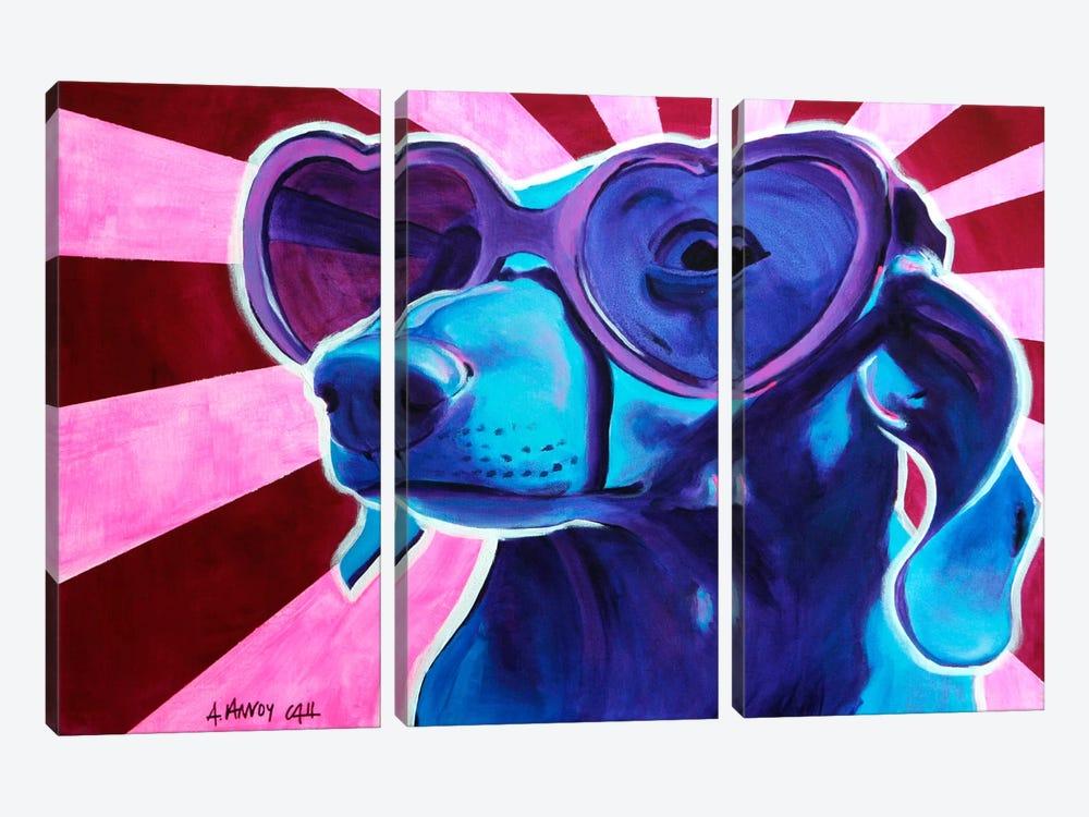Puppy Love by DawgArt 3-piece Art Print