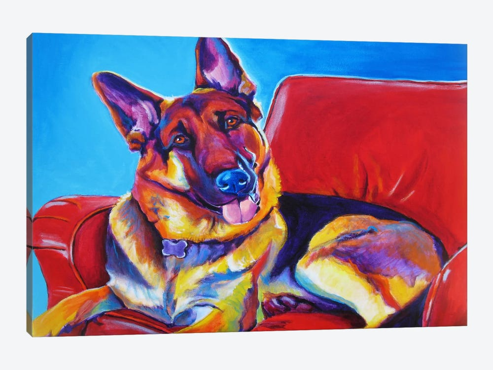 Zeke by DawgArt 1-piece Canvas Wall Art