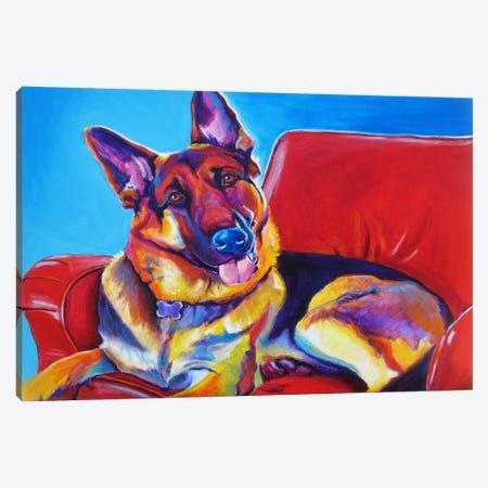 Zeke Canvas Print #14716} by DawgArt Canvas Artwork