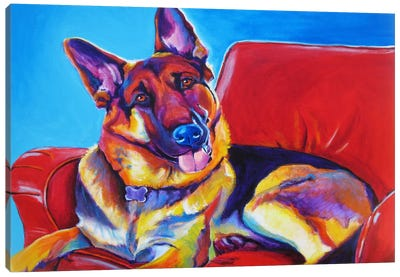 Zeke Canvas Art Print