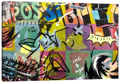 IMPOSSIBLE Canvas Art Print