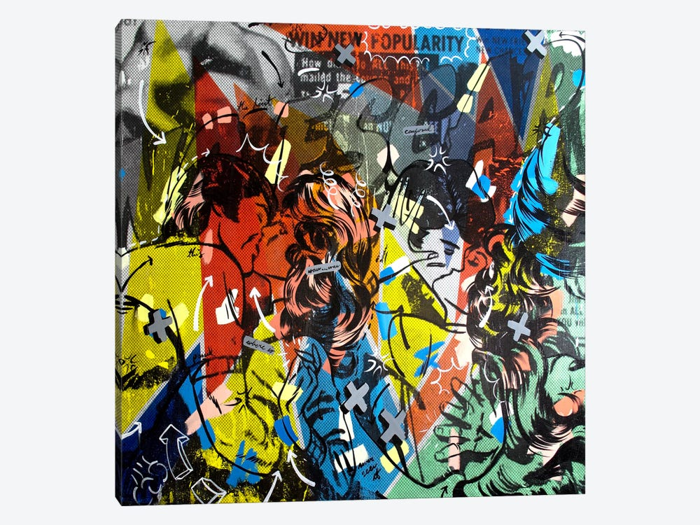 Popularity Everyone is Doing It by Dan Monteavaro 1-piece Canvas Artwork