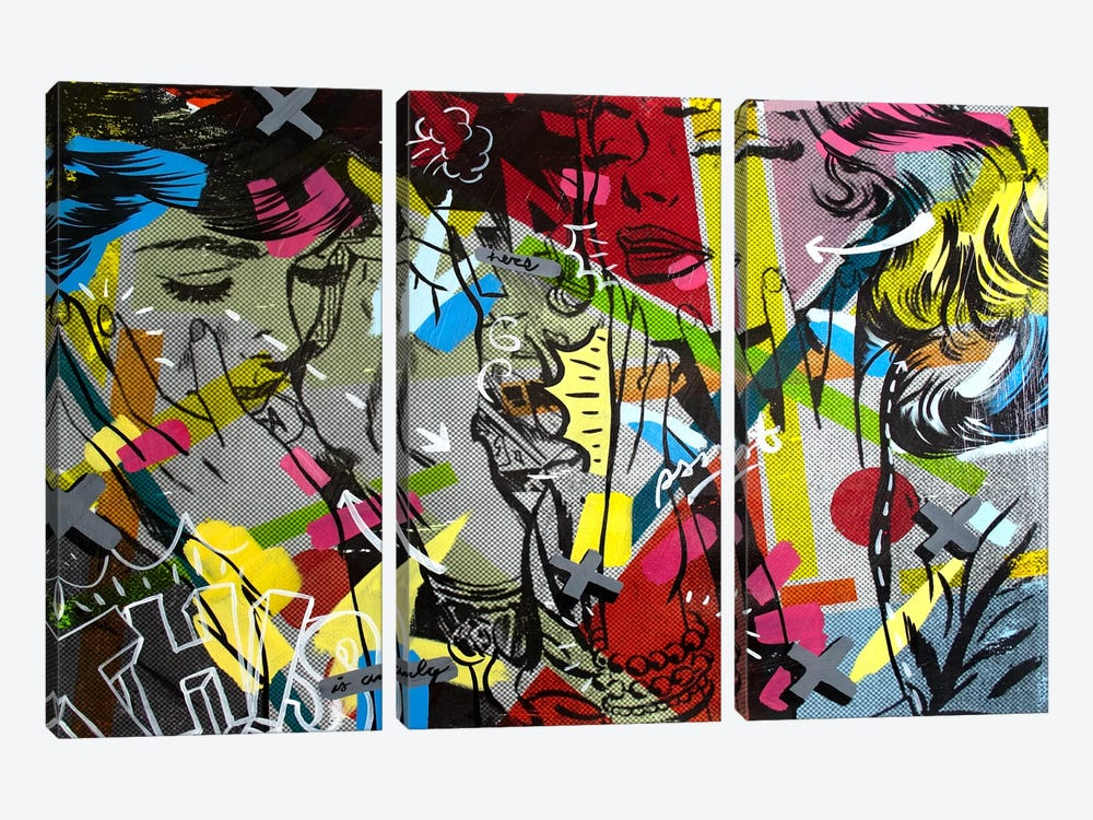 This is Only by Dan Monteavaro 3-piece Canvas Print