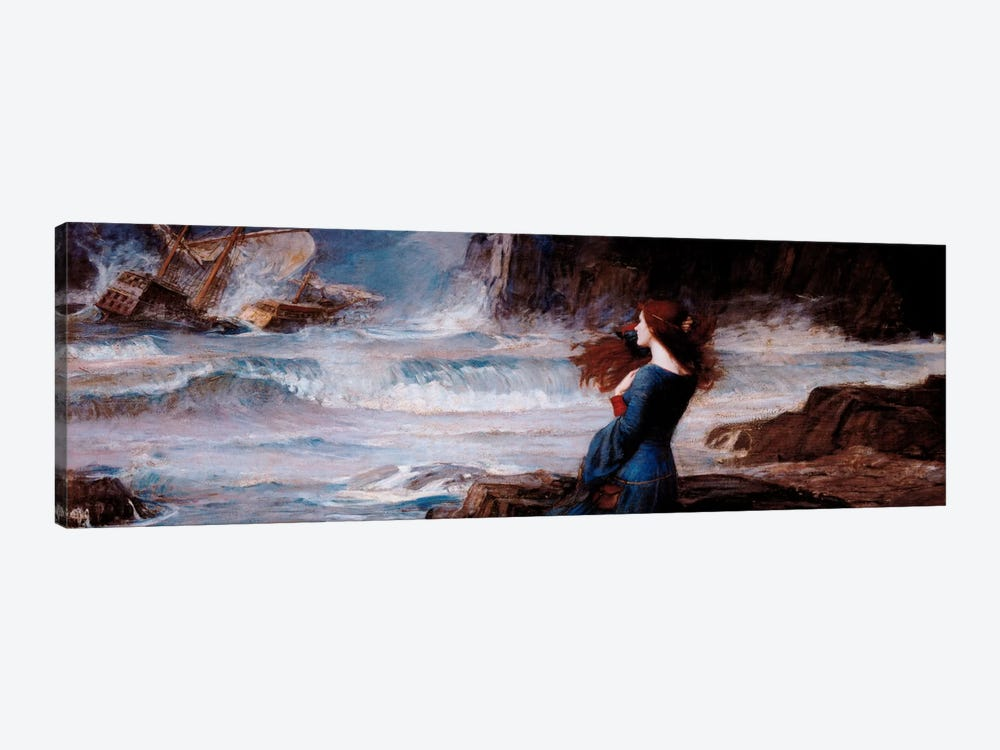 MirandaThe Tempest by William Waterhouse 1-piece Canvas Art