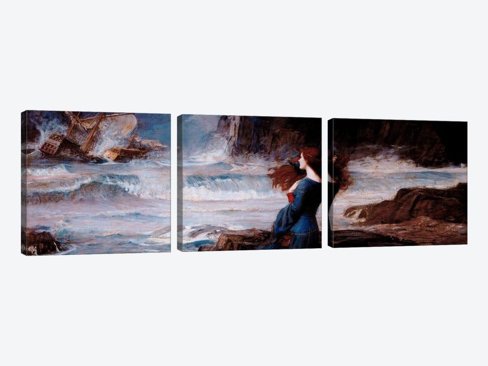 MirandaThe Tempest by William Waterhouse 3-piece Canvas Artwork