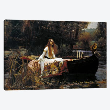 The Lady of Shalott Canvas Print #1484} by John William Waterhouse Art Print