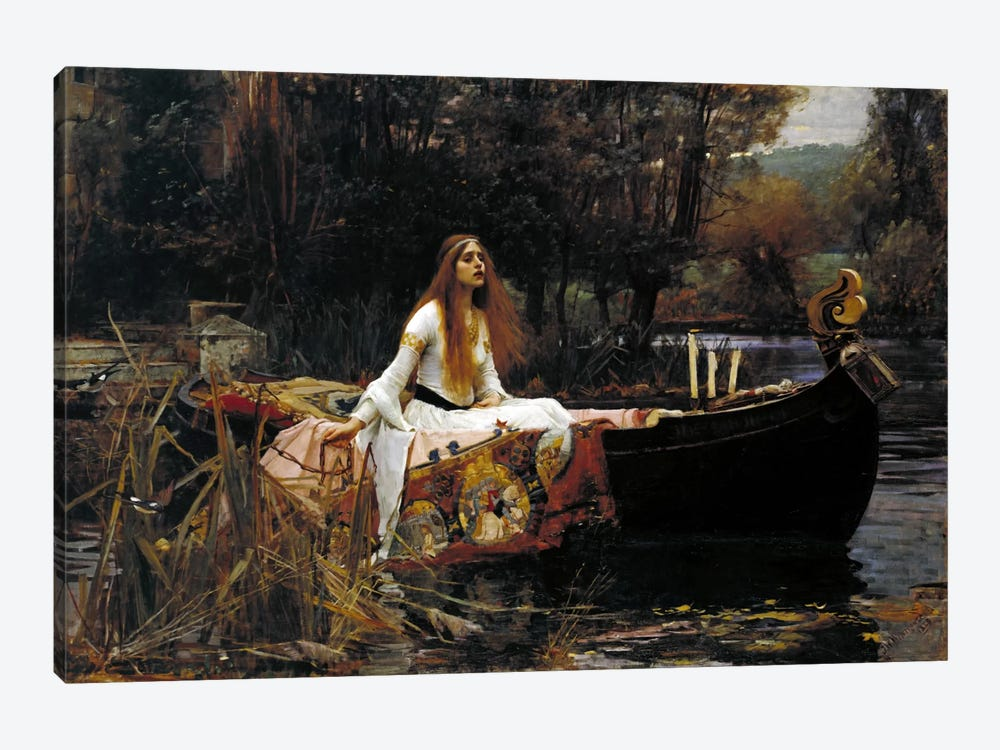the lady of shalott canvas artwork by john william waterhouse icanvas. Black Bedroom Furniture Sets. Home Design Ideas