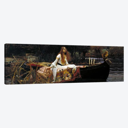 The Lady of Shalott Canvas Print #1484PAN} by William Waterhouse Canvas Wall Art