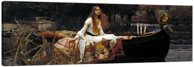 The Lady of Shalott Canvas Art Print
