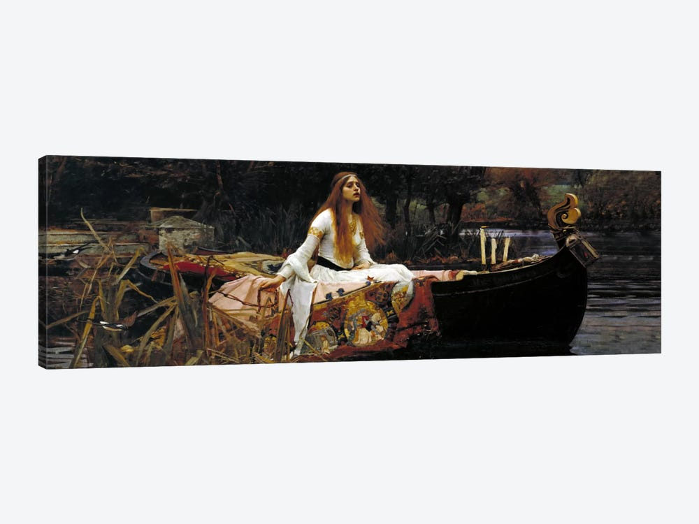 The Lady of Shalott by William Waterhouse 1-piece Canvas Wall Art