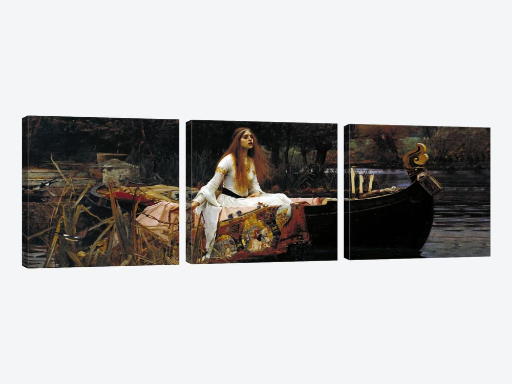 The Lady of Shalott by William Waterhouse 3-piece Canvas Artwork