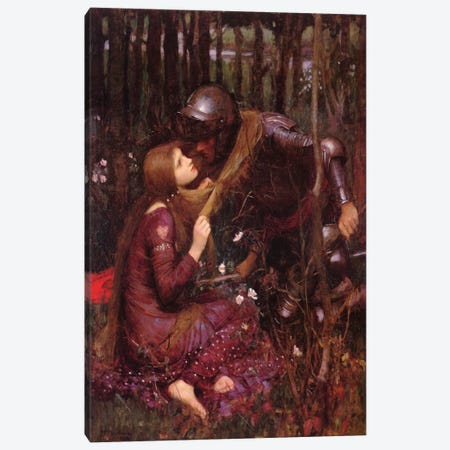 La Belle Dame Sans Merci Canvas Print #1487} by John William Waterhouse Canvas Print