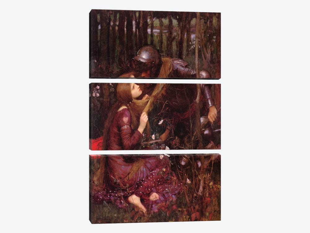La Belle Dame Sans Merci by John William Waterhouse 3-piece Canvas Wall Art