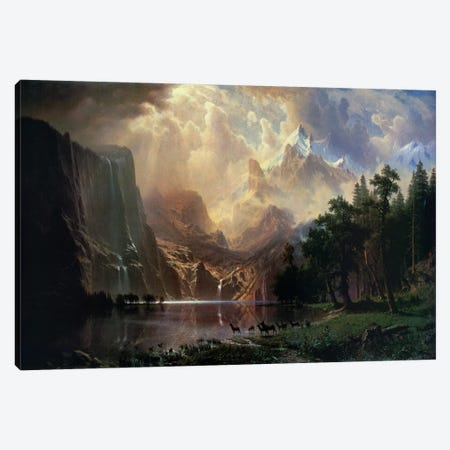 Among Sierra Nevada In California Canvas Print #1488} by Albert Bierstadt Canvas Wall Art
