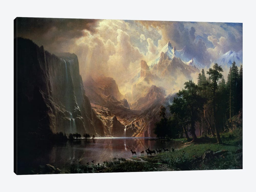 Among sierra nevada in california by albert bierstadt 1 piece art print