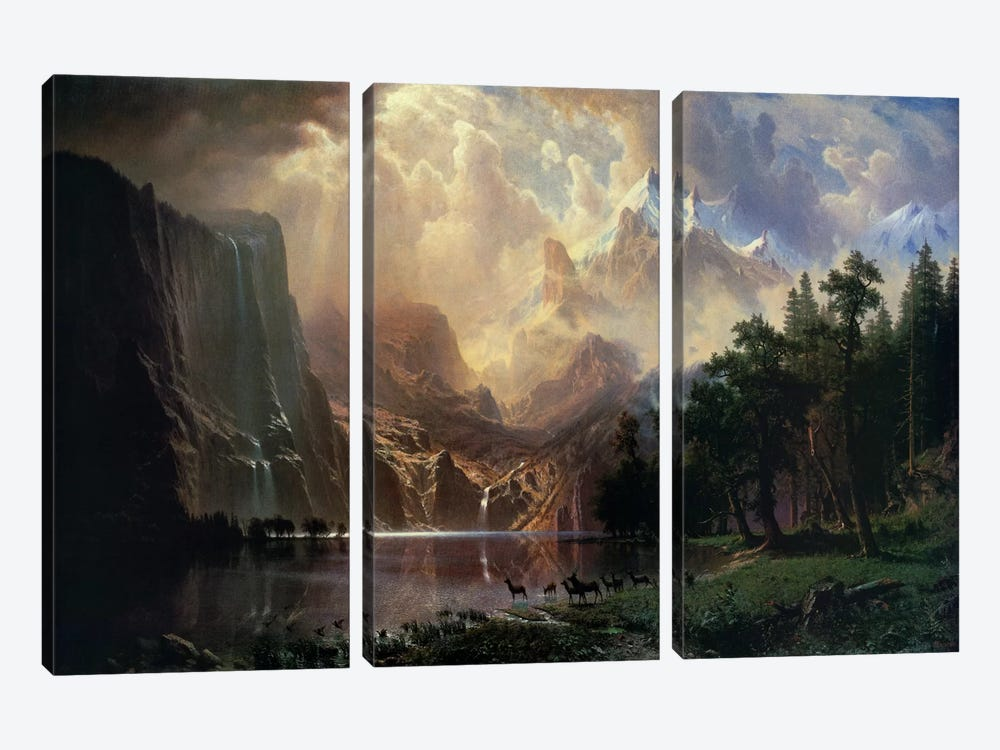 Among Sierra Nevada In California by Albert Bierstadt 3-piece Art Print