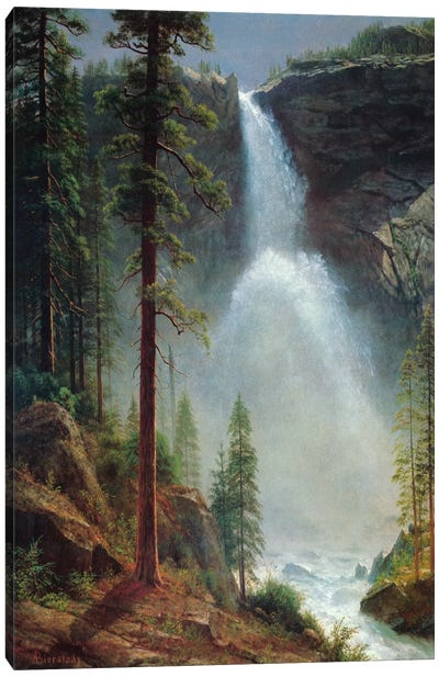 Nevada Falls by Albert Bierstadt Canvas Artwork