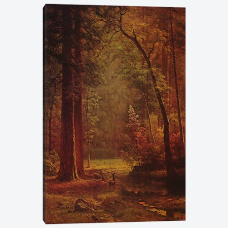 Dogwood Canvas Print #1490} by Albert Bierstadt Art Print