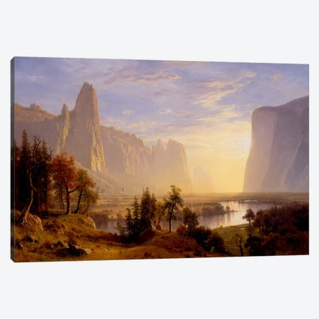 Yosemite Valley Canvas Print #1491} by Albert Bierstadt Canvas Art Print