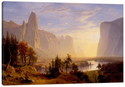 Yosemite Valley by Albert Bierstadt Canvas Art Print