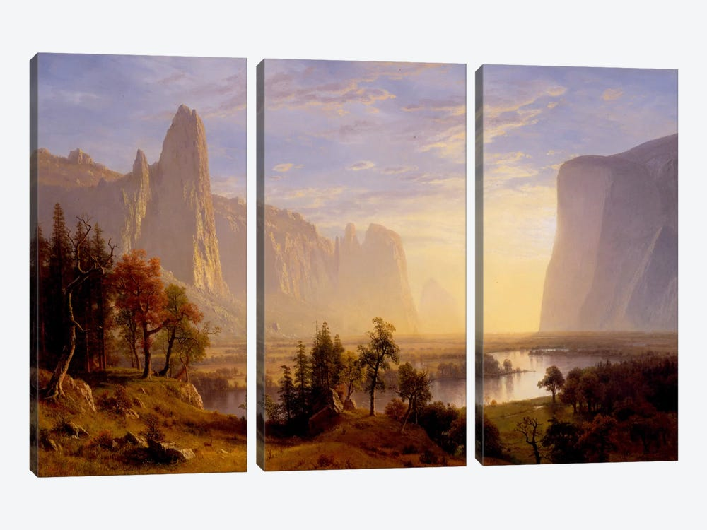 Yosemite Valley by Albert Bierstadt 3-piece Art Print