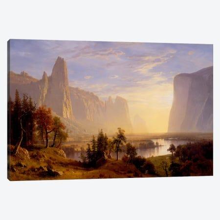 Yosemite Valley Canvas Print #1491} by Albert Bierstadt Canvas Art Print