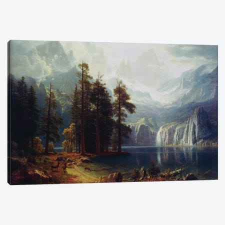 Sierra Nevada In California Canvas Print #1492} by Albert Bierstadt Canvas Art Print